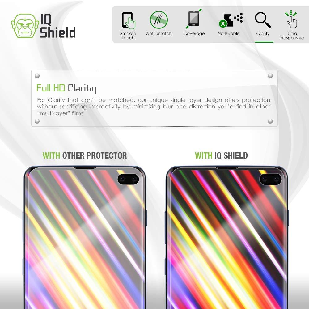 Samsung Galaxy S10 Plus Screen Protector (S10+ 6.4'')[Case Friendly](2-Packs)(Compatible w/Fingerprint ID), IQ Shield LiQuidSkin Full Coverage Screen Protector for Samsung Galaxy S10 Plus HD Clear Film by IQShield (Image #7)