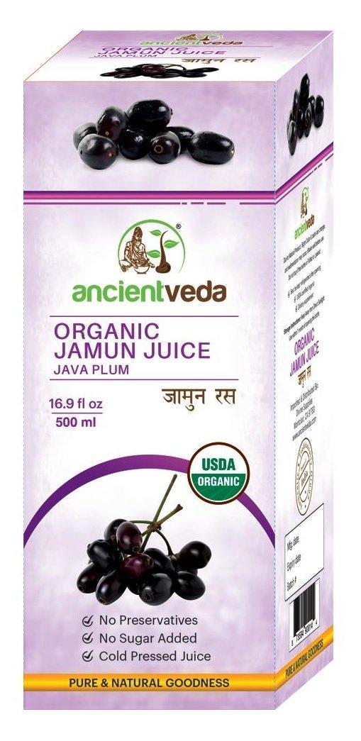 Organic Jamun Juice(Java Plum Juice) USDA Certified Organic 500ml - Ancient Veda …