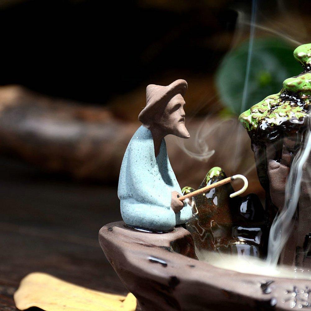 Eforlife Ceramic Incense Holder Backflow Censer Home Decoration (Guilin Scenery) by Eforlife (Image #4)