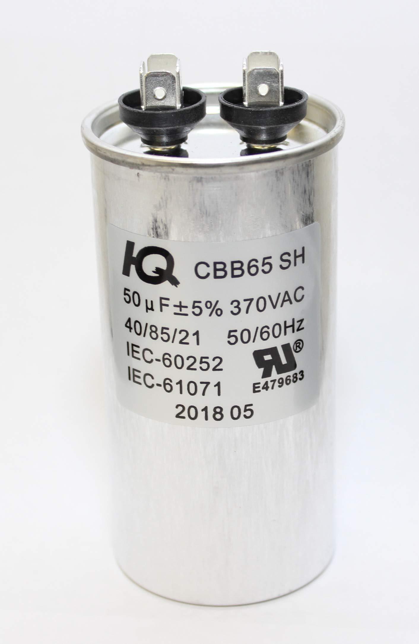 Galleon - QX6550 Capacitor Motor Run Round 50 UF MFD 370 V VAC Volt HVAC