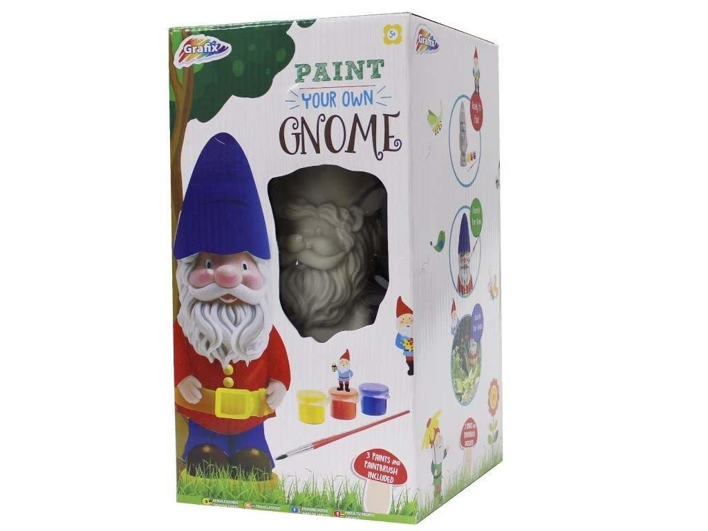 Crafts Activity For Boys & Girls - Paint Your Own Garden Gnome For Ages 5+ Smiley Face Gifts