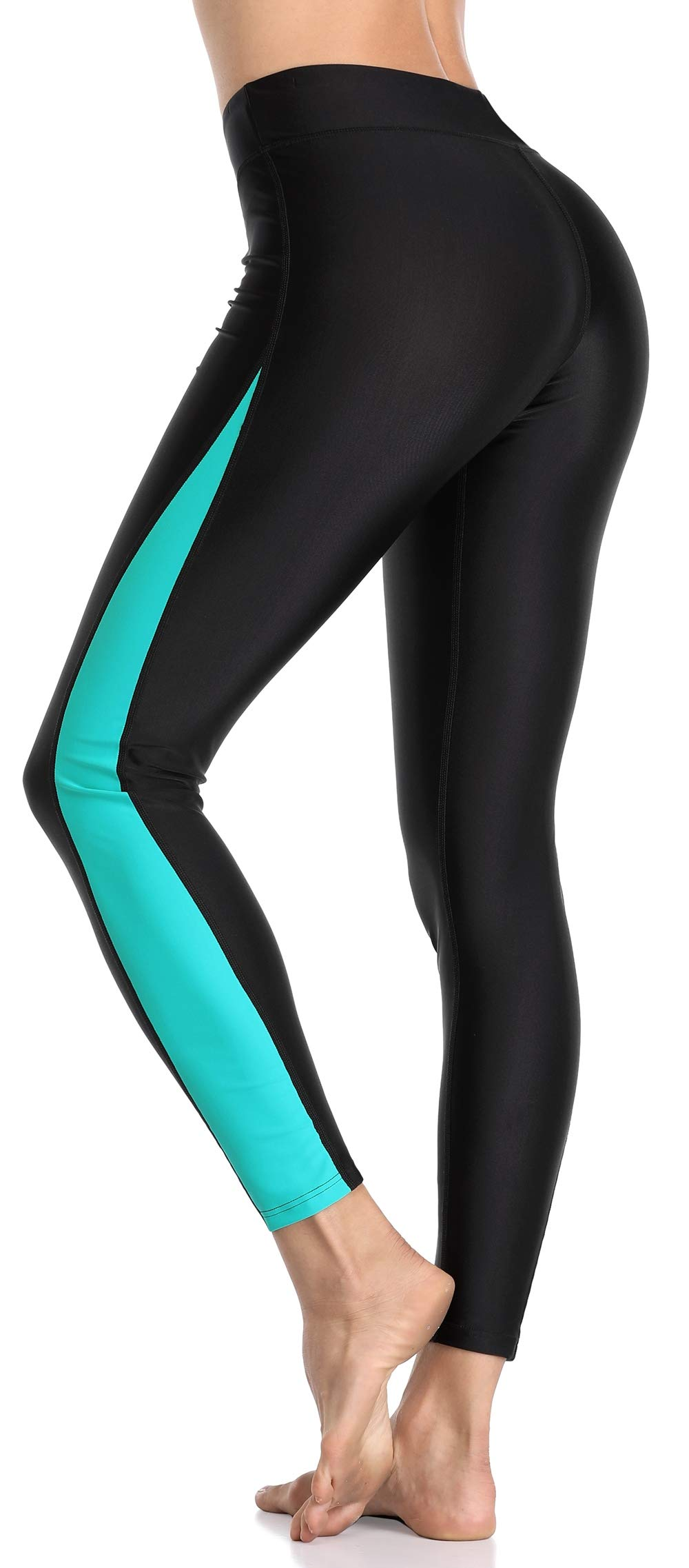 ATTRACO Womens Hiking Pants UPF 50+ Swim Tights Wetsuit Pants Leggings Aqua Small by ATTRACO