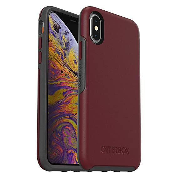best sneakers da3f9 93b1f OtterBox SYMMETRY SERIES Case for iPhone Xs & iPhone X - Retail Packaging -  FINE PORT (CORDOVAN/SLATE GREY)