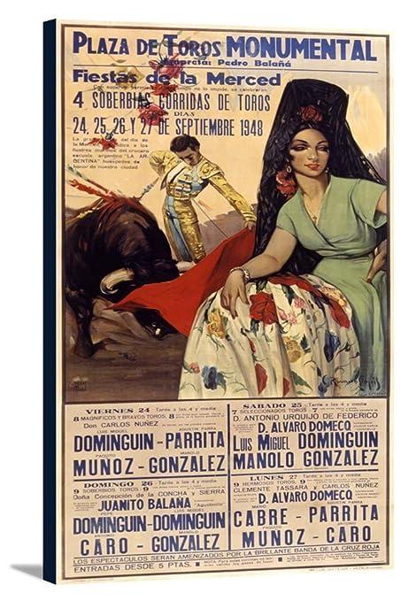 Plaza de Toros - Fiestas de la Merced Vintage Poster (artist: Ruano Llopis)