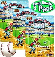 Hey Batter Batter Finger Flickin' Handheld Pinball Games Gift Set Party Bundle - 3 Pack