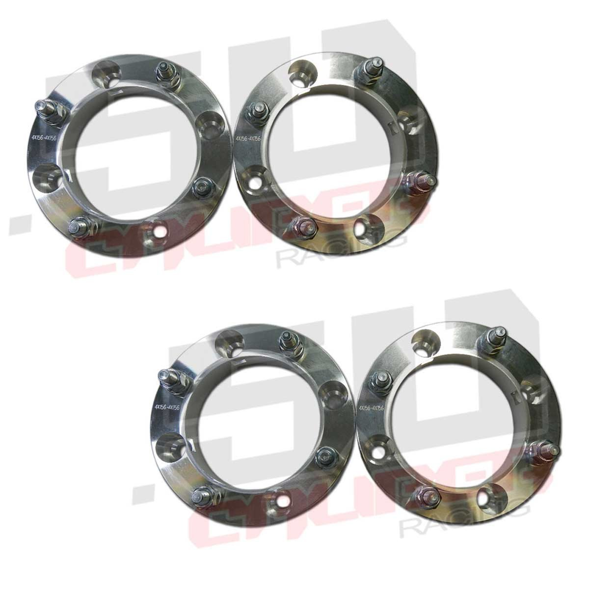 Set of Four (4) Wheel Spacers - 4x156 – 1.5 Inch Thick – 12x1.5mm Studs - Polaris XP1000, S 900, S 1000 and Ranger 2013-up [5286]