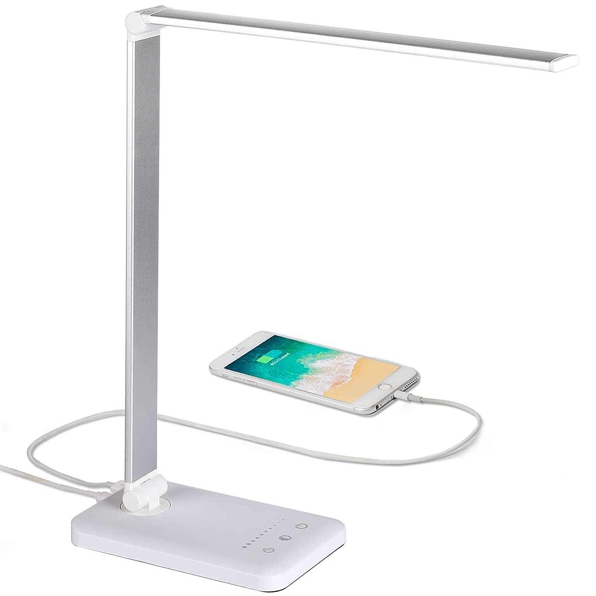 野心的アクセスできないこんにちはレトロ クランプ式 アームライト USB給電式 LEDデスクライト 無段階調光调色 卓上ライト 目に優しい 電気スタンド PC作業 仕事 寝室 読書 ベッドサイドランプ (led電球付き)