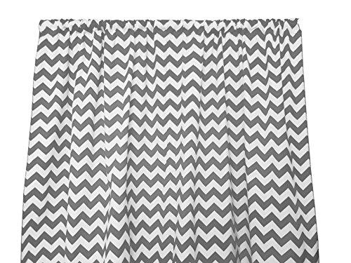Zen Creative Designs Premium Cotton Chevron Curtain Panel Home Window Decor Window Treatments Chevron Zig Zag Waves 58 Inch x 84 Inch, Charcoal Grey