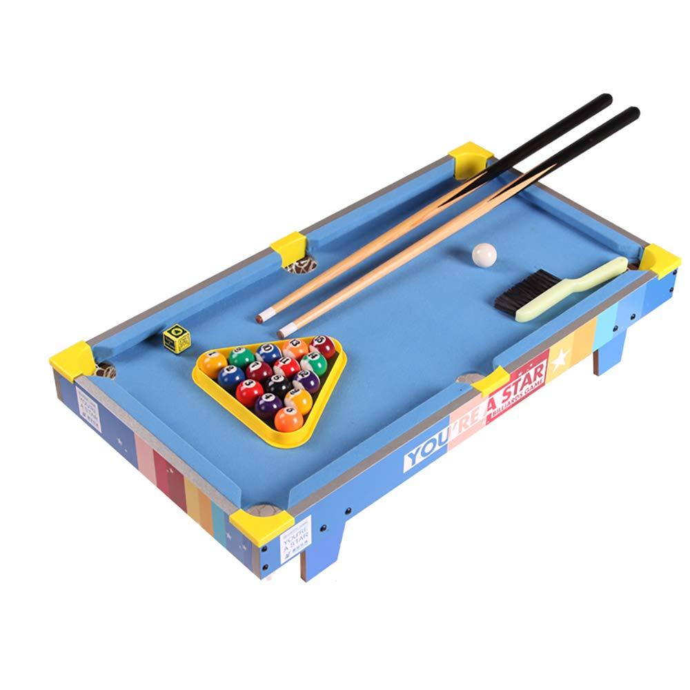 ミニプールテーブル、卓上ビリヤードポータブル家庭小さな木製ビリヤードテーブル子供のおもちゃ B07HN971ND Blue
