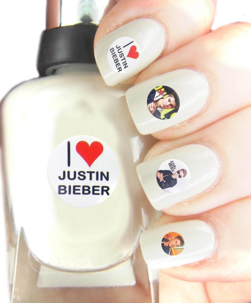 Nail Art Transfers, Justin Bieber, Easy to use Nail art transfers ...