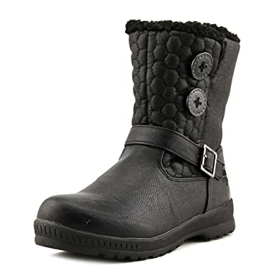 Amazon.com | Totes Women's Circle Black Snow Boot Warm Winter ...