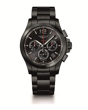 a4477077f34f [ロンジン]LONGINES 腕時計 コンクエスト V.H.P. クォーツ クロノグラフ パーペチュアルカレンダー ブラックPVD L3