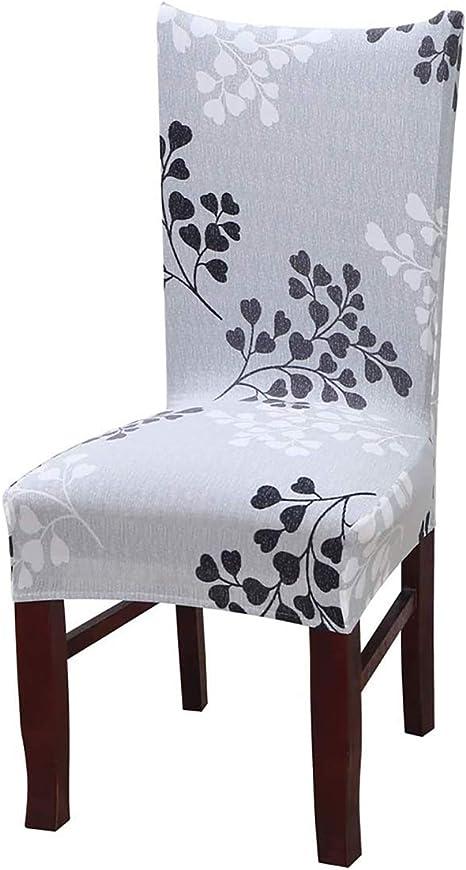 Cerimonia Hotel Qishare 4 Pack Fodere per Sedia da Pranzo Fit Elasticizzato Elastico Universale Lavabile Fodere per Sedia coprisedile per Sala da Pranzo Matrimonio Grigio