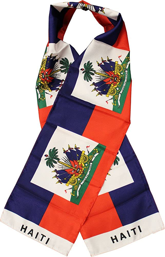 Haiti 8 x 60 Lightweight Flag Scarf