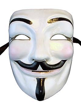 Máscara Veneciana Completa Volto Guy Fawkes V para Vendetta para Hombres