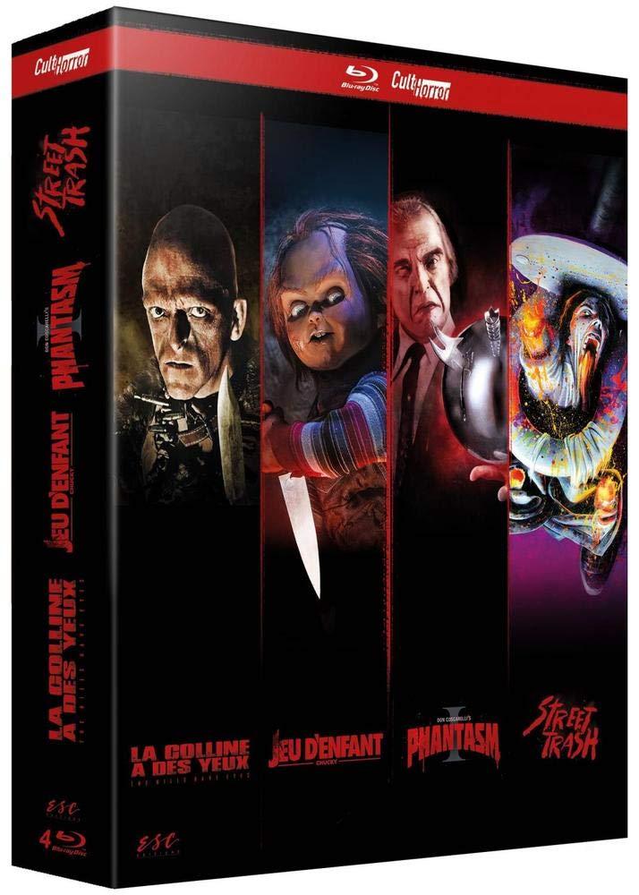 CultHorror : Phantasm + Chucky - Jeu denfant + Street Trash + La Colline a des yeux Italia Blu-ray: Amazon.es: Don Coscarelli, Tom Holland (I), James M. Muro, Wes Craven: Cine y