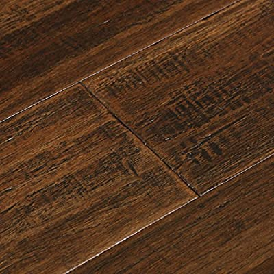 Cali Bamboo - Solid Wide T&G Bamboo Flooring, Dark Brown Vintage Port, Heavy Distressed - Sample
