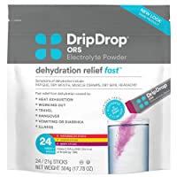 DripDrop ORS – Patented Electrolyte Powder for Dehydration Relief Fast - For Workout...