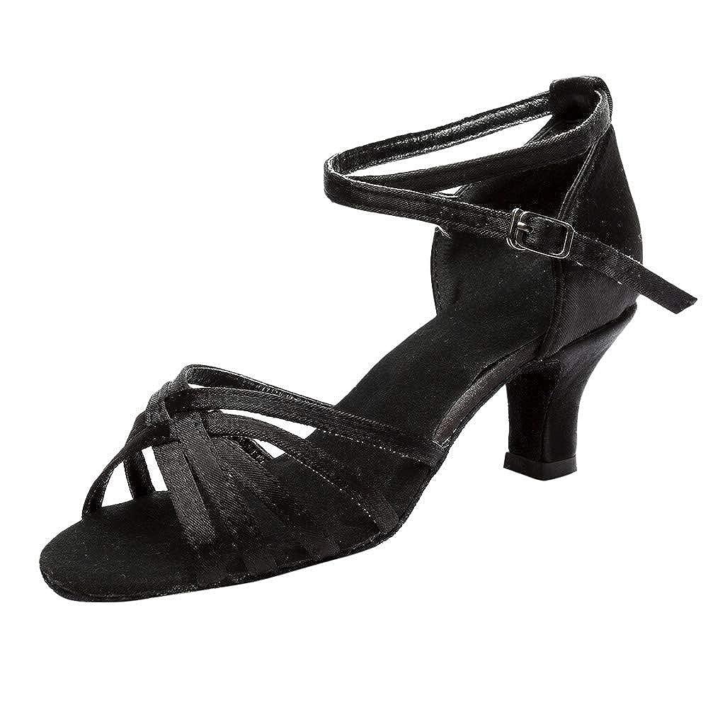 8059c8b1 LILICAT✈✈ Fashion Mujer Color Moda Rumba Waltz Prom Ballroom Salsa Latina  Zapatos de Baile Sandalias 2019 Tacón Alto Cruzado para Hebilla de Zapatos  ...