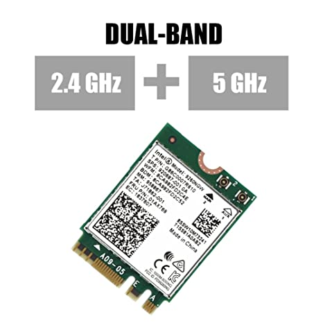 fosa 1730Mbps Intel 9260NGW NGFF Wireless Wifi Card, High Speed 2.4G + 5G Dual-Band 802.11ac WiFi Bluetooth 5.0 Module Wireless Card, Support ...