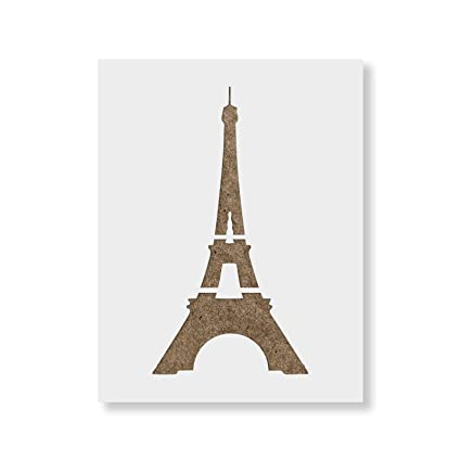 image relating to Eiffel Tower Template Printable identified as Eiffel Tower Stencil Template - Reusable Stencil with Many Measurements Offered