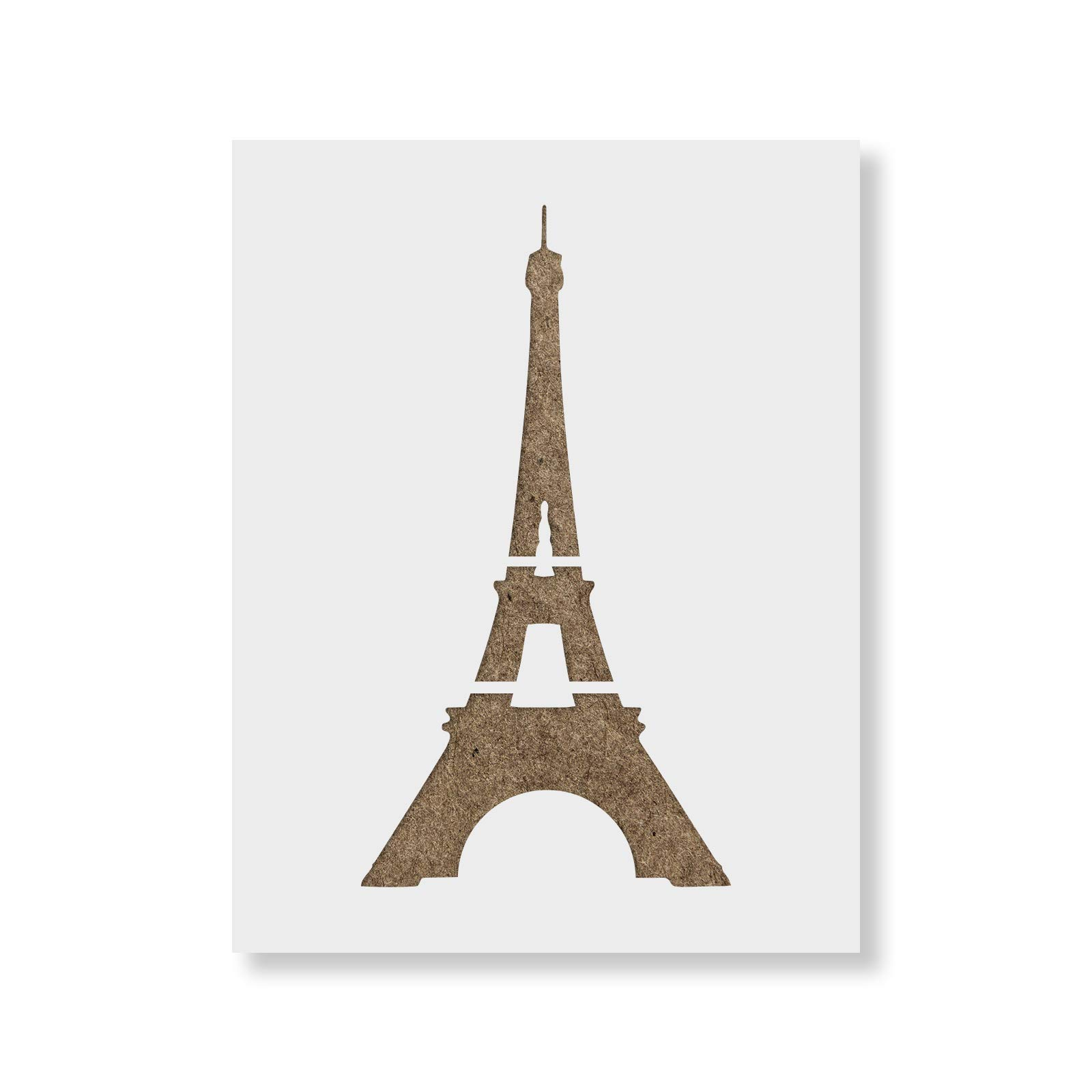 Eiffel Tower Stencil Template - Reusable Stencil with Multiple Sizes Available