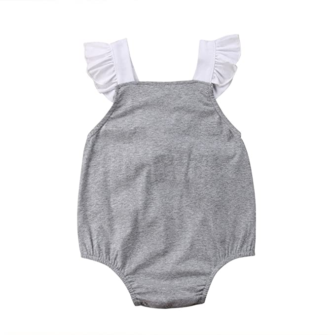 Amazon.com: Ropa para recién nacidos de niña con volantes ...
