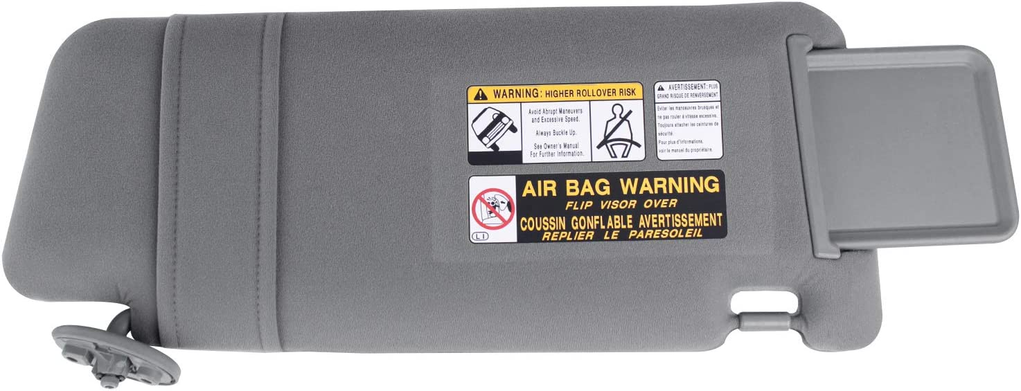 Visors LH Gray UNIGT Driver Side Sun Visor Replacement for 2005 ...