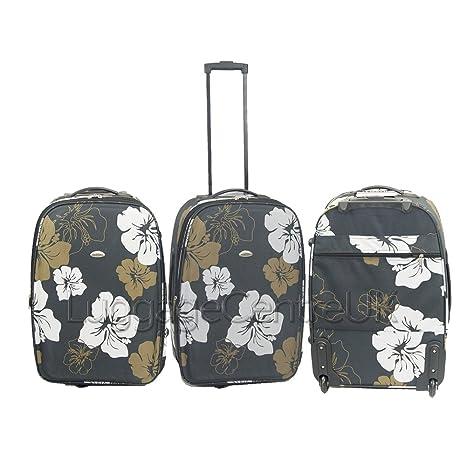 """Flor Estampado De Leopardo mediano Plus Ryanair Pequeño Tamaño de equipaje equipaje de mano maleta 23"""""""