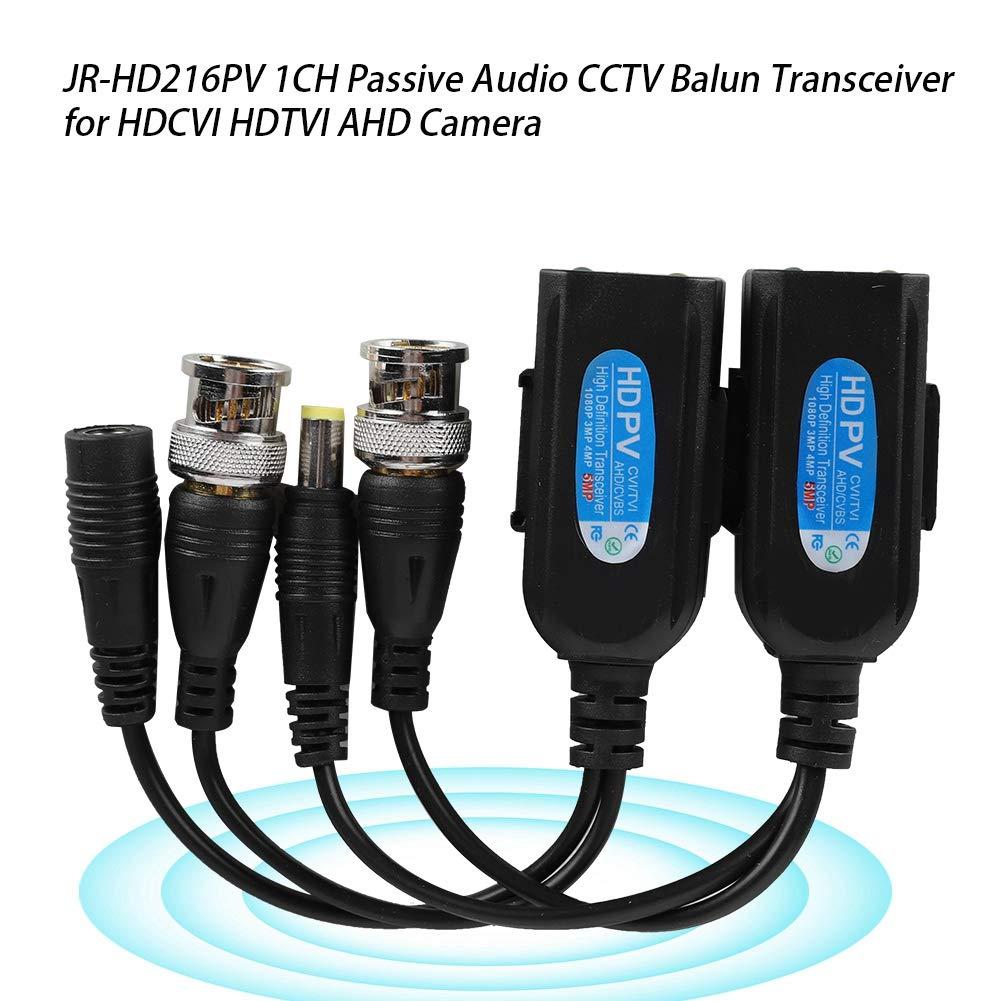 1CH RJ45 Passive CCTV Power Video Audio Balun Transceiver HDCVI HDTVI AHD Analog