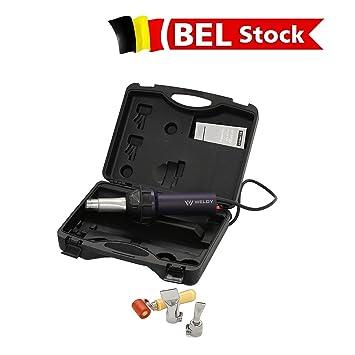 Bélgica Stock, 1600 W caliente explosión linterna superposición pistola de soldadura soldador pistola Kit de herramienta: Amazon.es: Jardín