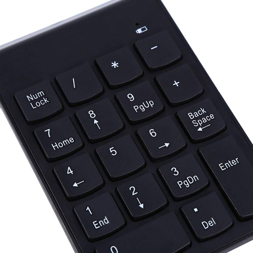 Oumij 2.4G Teclado num/érico Ultra Delgado inal/ámbrico 18 Teclas Desarrollado por 1 x Pila AAA Teclado Mini Digital Lo Mejor para usuarios de computadoras port/átiles con Mini Receptor USB Modo de