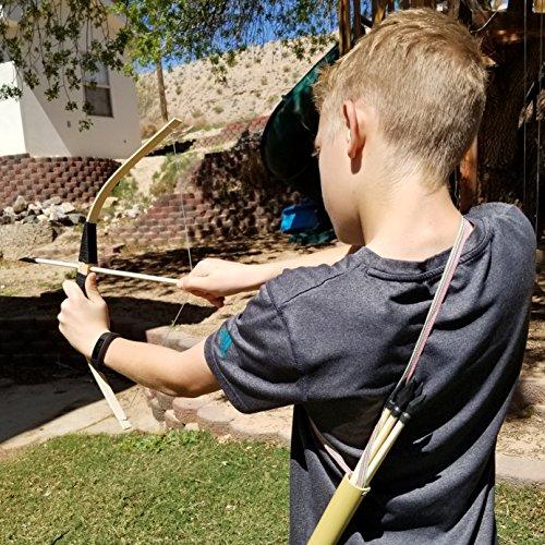2-Pack Handmade Wooden Bow and Arrow Set Adventure Awaits! 20 Wood Arrows