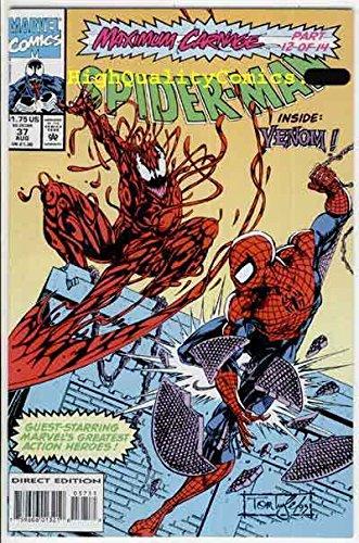 SPIDER-MAN #37, VFN, Maximum Carnage, Venom, Captain America,1990,more in store -
