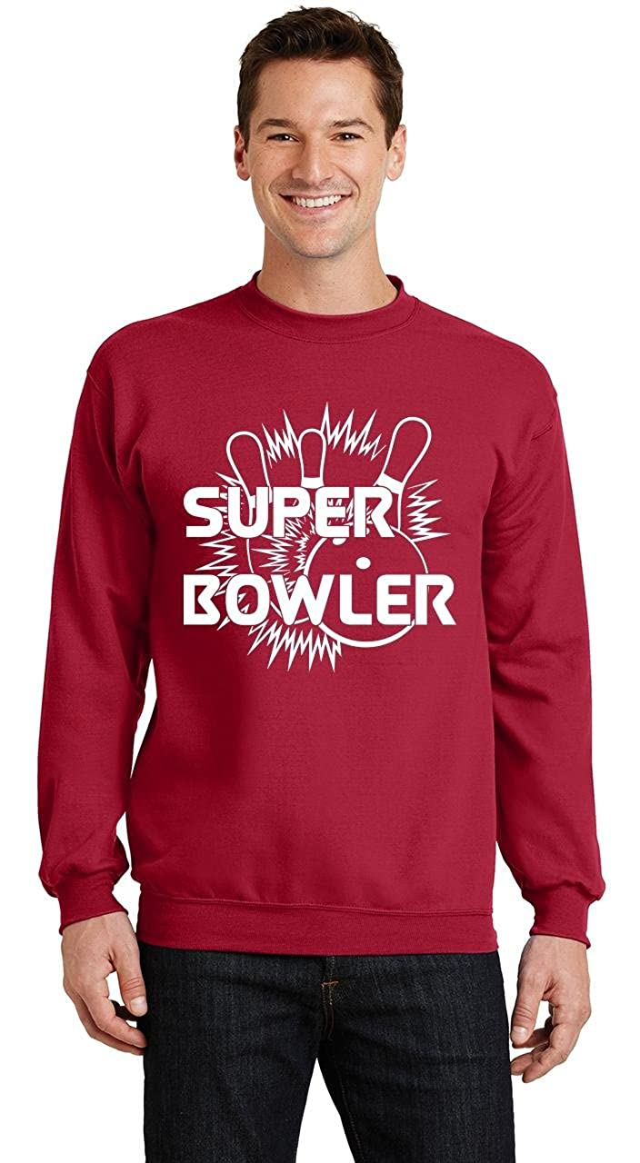 Comical Shirt Mens Super Bowler Sweatshirt