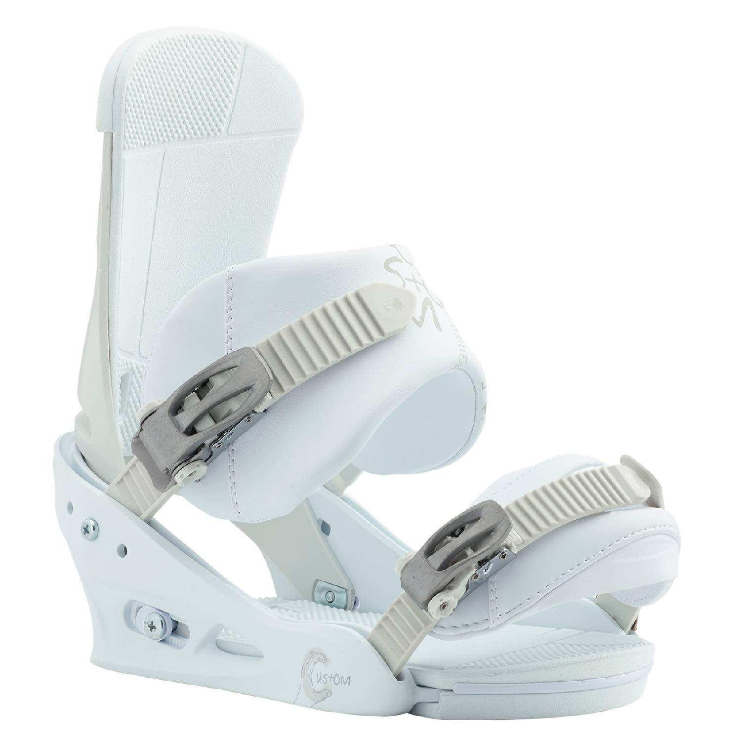 Burton Custom Snowboard Bindings White Sz L (10+)