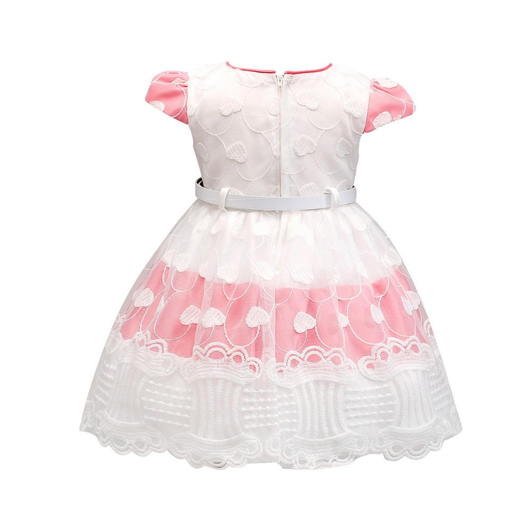 Layette Special Tutu Bow Heart Lace Birthday Dress 0-24 Months Infant Wear Spring//Summer Memela Baby Girls Clothes