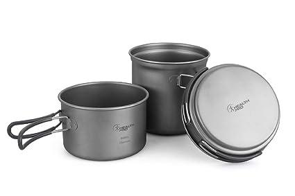Juego HealthPro de 3 piezas de utensilios de cocina para acampar ...