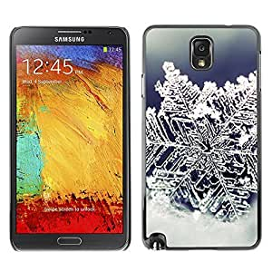 YOYO Slim PC / Aluminium Case Cover Armor Shell Portection //Christmas Holiday Ice Snow Flower 1258 //Samsung Note 3