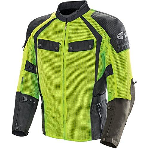 (Joe Rocket Men's Phoenix Ion Summit Mesh Motorcycle Jacket (Black/Hi-Viz, Medium))
