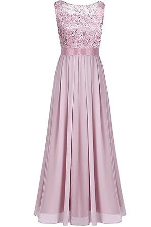 Iefiel Damen Kleid Festlich Hochzeit Brautjungfernkleider