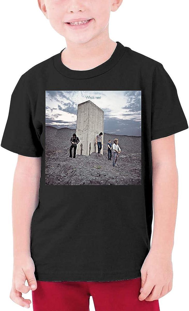 HAPPYHAPPYHAPPY The Who /¨C Whos Next Boys Girls Short Sleeve T-Shirt Black