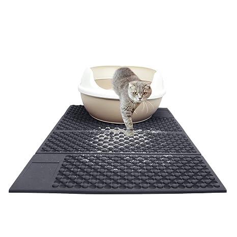 Mlec tech Alfombra para Gatos Doble Capa Doble Color Estera de La Litera del Gato Ligera