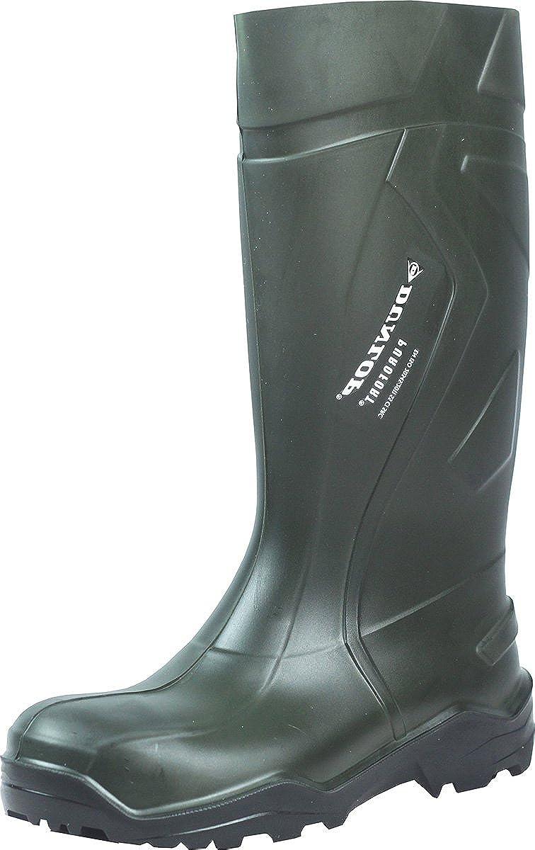 Herren Dunlop C762933 Purofort Plus Voll Sicherheit Standard Gummistiefel Verpackt Stiefel - Herren Grün EU 48 1 3