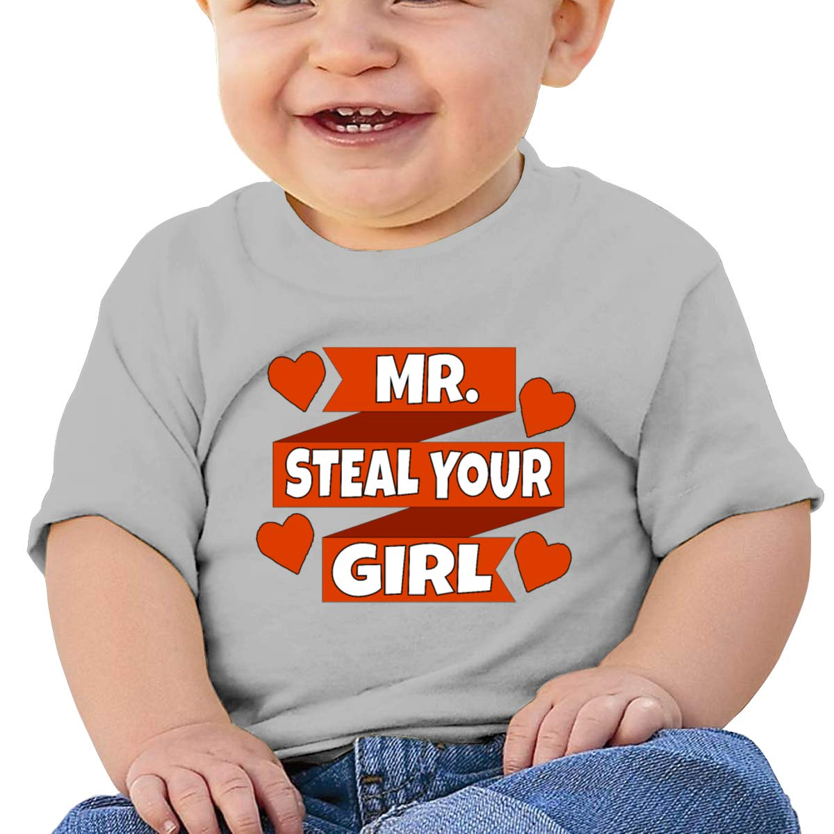 Mr Steal Your Girl Toddler Short Sleeve T-Shirts Girls Birthday Gift
