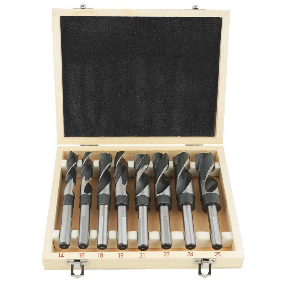 juego de brocas espirales de metal de 8 piezas Juego de brocas en espiral de acero endurecido broca de metal HSS alta elasticidad y resistencia 14//16//18//19//21//22//24//25 mm