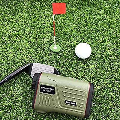 PEAKPULSE 7S Golf Rangefinder with Slope, Golf Laser Range Finder with Slope Compensation, Flag Acquisition Technology, Scan, Pulse Vibration and Fast Focus System. Perfect For Golfers of All Abilitie from PEAKPULSE