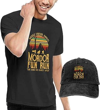 AOCCK Camisetas y Tops Hombre Polos y Camisas, Mordor Fun Run ...
