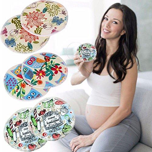 Sbeautli 10Pcs Random Color Bamboo Galactorrhea Against Reusable Feeding Absorbent Breast Shield Nursing Pads Spill Prevention by Sbeautli