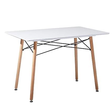 Eggree Table Salle à Manger Rectangulaire Scandinave Design